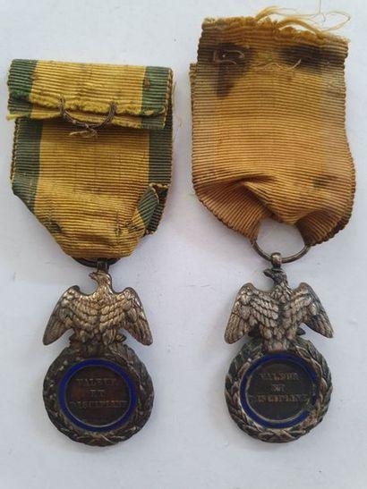 FRANCE MÉDAILLE MILITAIRE Deux médailles militaires du 2e type (Second Empire)....