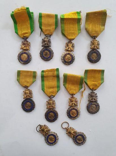 FRANCE MÉDAILLE MILITAIRE Lot de 10 médailles...