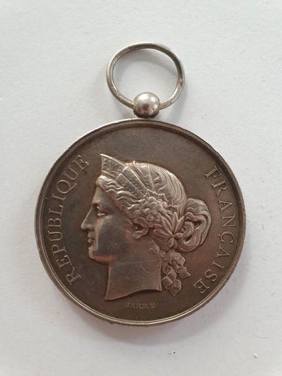 FRANCE Rare médaille du sous-secrétariat des colonies pour la Campagne de 1890-1891...