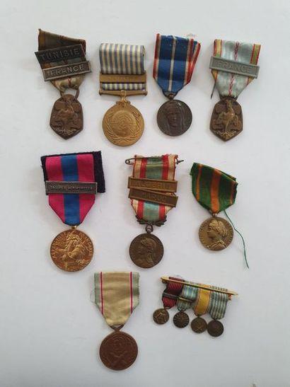 FRANCE Ensemble de 8 médailles: Anciens...