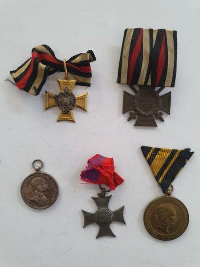 AUTRICHE - ALLEMAGNE 5 médailles dont croix...