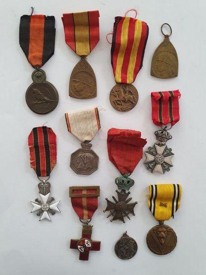 BELGIQUE - ESPAGNE Ensemble de10 médailles...