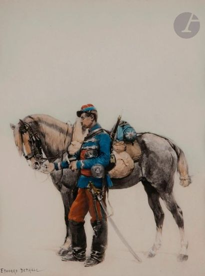 Édouard DETAILLE (d'après) Cavalier du 2e...