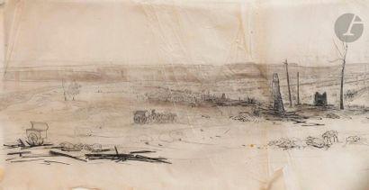 Jean-Charles Langlois (attribué à) Panorama...