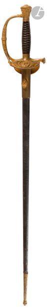 Épée d'officier des Haras modèle 1817 à ciselures....