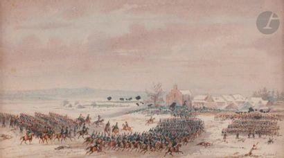 Gaspard GOBAUT (1814-1882) La bataille d'Eylau...