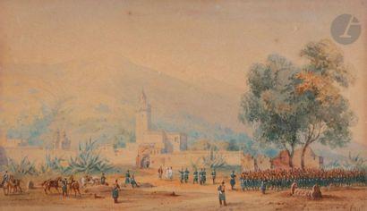 Gaspard GOBAUT (1814-1882) Campagne d'Algérie,...