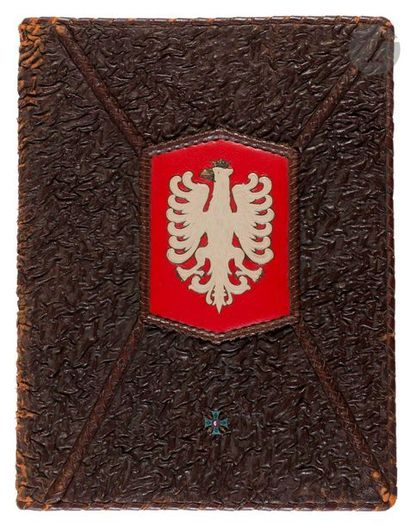 Grand cahier porte-documents offert par les vétérans de l'armée polonaise en France...