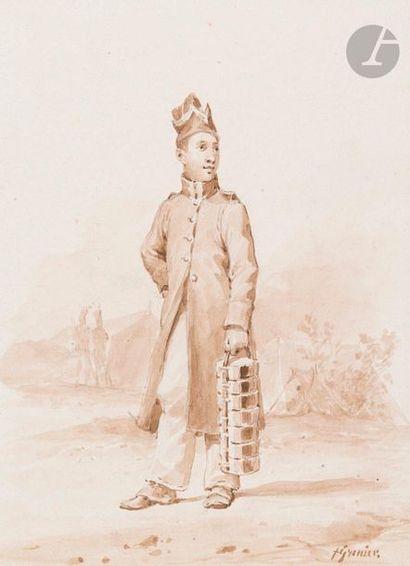 Francois GRENIER (1793-1867) Fantassin en...