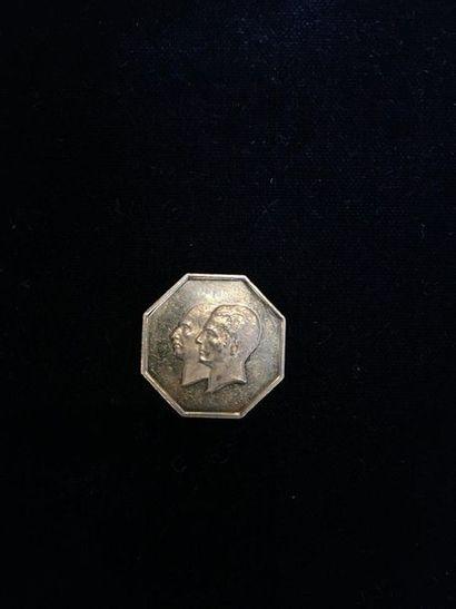 1 médaille en or Iranienne octogonale (22K)....