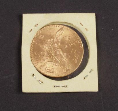50 Pesos en or. 1821 - 1947.