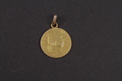 1 pièce de 40 Francs en or monté en pendentif....