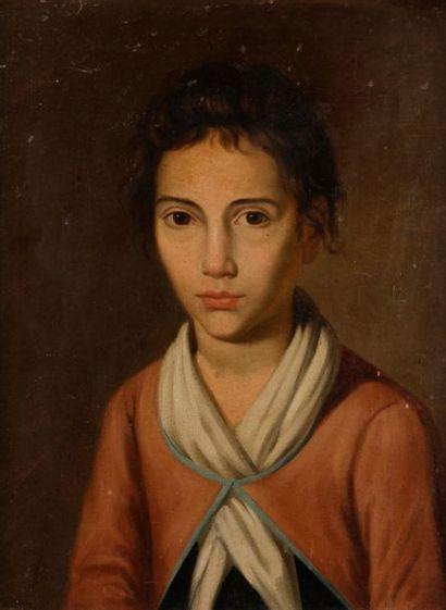 École FRANÇAISE vers 1800 Portrait de jeune...