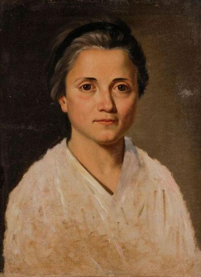 École FRANÇAISE vers 1800 Portrait de femme...