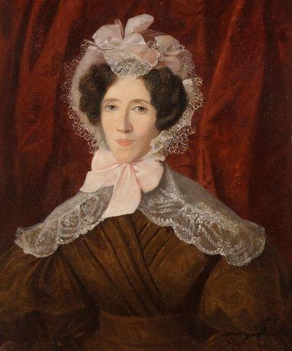 École FRANÇAISE vers 1840 Portrait de madame...
