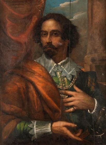 École ESPAGNOLE du XIXe siècle Portrait dit...