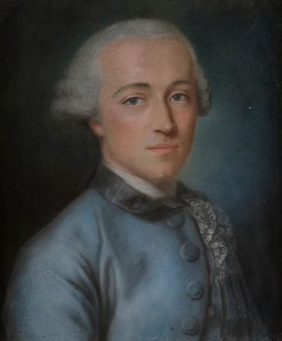 Charles-Alexis HUIN (Nancy, 1732-Paris, 1786) Portrait d'homme de la famille Oesinger,...