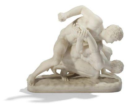 Guglielmo PUGI (1850-1915) Les lutteurs,...