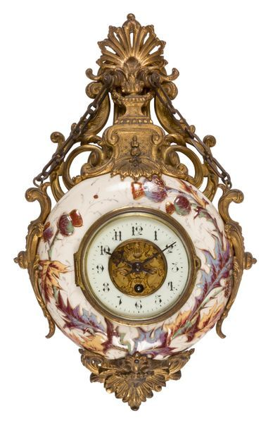 Cartel en faïence dit horloge boulangère...