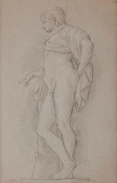 Attribué à Étienne PARROCEL (1696-1776) Étude d'après l'antique Crayon noir et...