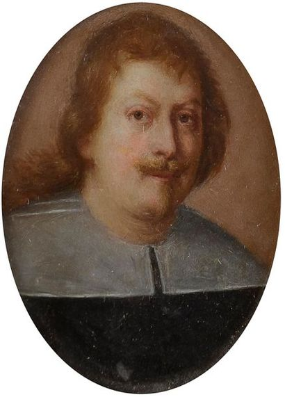 École ROMAINE vers 1640 Portrait d'homme...