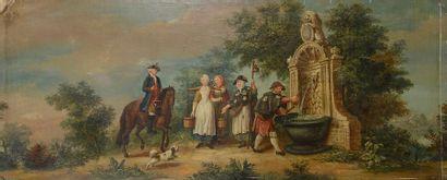 École FRANÇAISE vers 1760, suiveur de Louis...