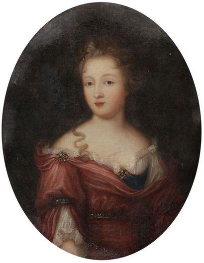 École FRANÇAISE vers 1700 Jeune dame à l'hermine...