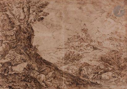 ÉCOLE de Giulio CAMPAGNOLA (Padoue vers 1482...