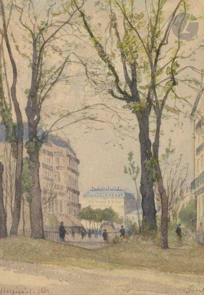 Henri Joseph HARPIGNIES (1819-1916) Paris,...