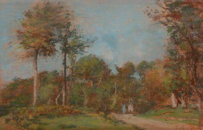 Eugène BOUDIN (1824-1898) Chemin de campagne...