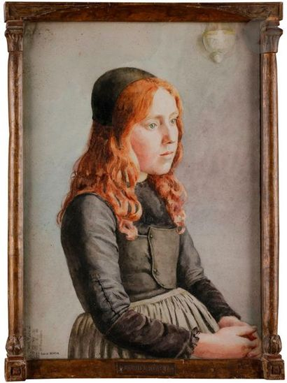 Gabriel-Charles DÉNEUX (1856-1926) Fillette...