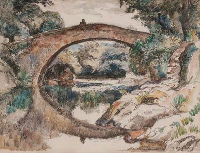 Georges DORIGNAC (1879-1925) Le Pont romain...