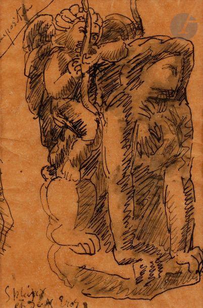 Émile-Antoine BOURDELLE (1861-1929) Sphinx...