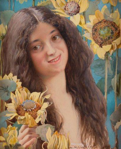 Louis-Welden HAWKINS (1849-1910) Clytie parmi...
