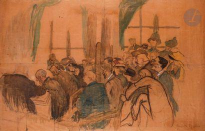 Marcelle GALLOIS (1888-1962) Le Cours public,...