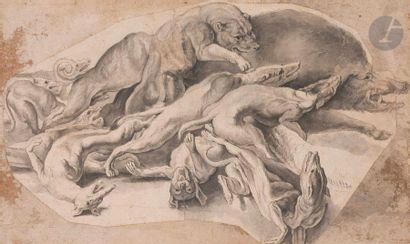 ÉCOLE FLAMANDE du XVIIe siècle La Chasse...