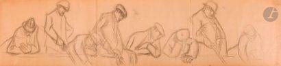 Marcelle GALLOIS (1888-1962) Les Pêcheurs...
