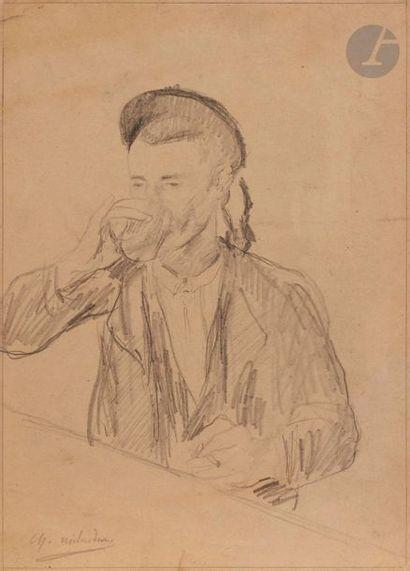 Charles MILCENDEAU (1872-1919) Buveur au...
