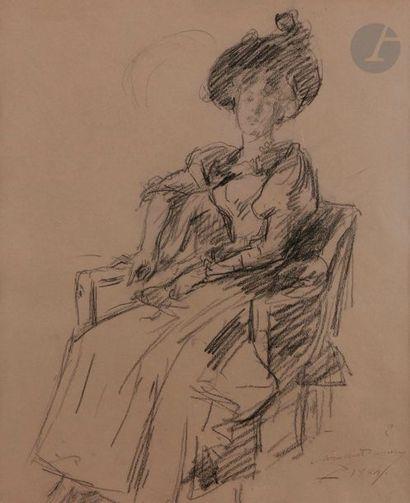 Charles émile CAROLUS-DURAN (1838-1917) élégante...