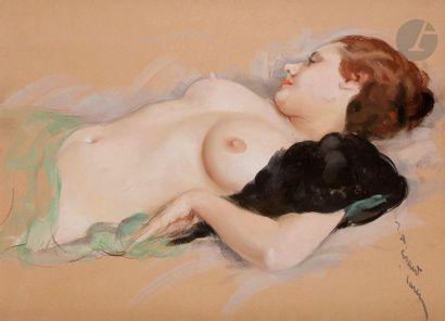 Jean-Albert GRAND-CARTERET (1903-1954) Nu...