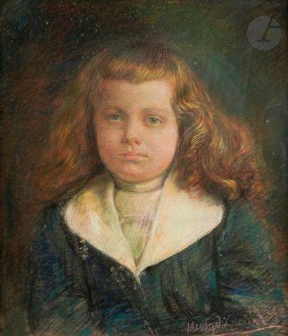 Henry de GROUX (1866-1930) Portrait de jeune...