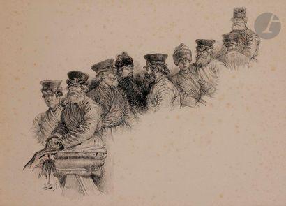 Henri LANOS (1859-1929) Étude de personnages...