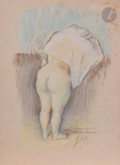 Louis LEGRAND (1863-1951) Femme après le...