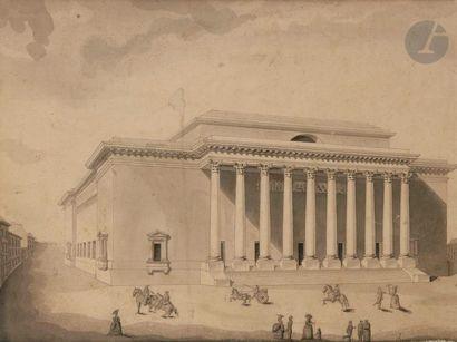 BENOIST (XVIIIe siècle) Projet d'édifice...