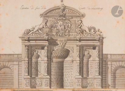 ÉCOLE FRANÇAISE du XVIIIe siècle Élévation...