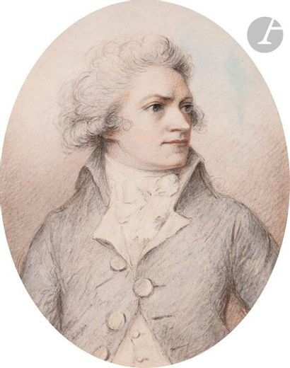 D'après Richard COSWAY (Tiverton 1742 - Edgware...