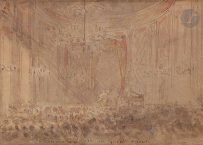 ÉCOLE FRANÇAISE du XIXe siècle Concert de...