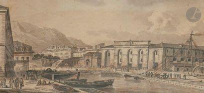 Jean-Thomas THIBAULT (Montier-en-Der 1757 - Paris 1826) L'Arsenal de Toulon Une...