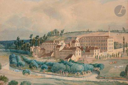Théodore BASSET de JOLIMONT (Martainville-Épreville 1787 - Dijon 1854) Une paire...