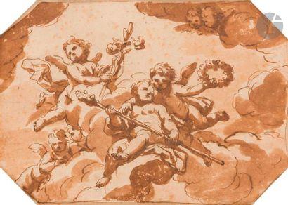 ÉCOLE ITALIENNE du XVIIe siècle Étude de...